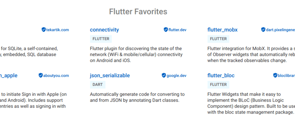 Cover image for Top 5 Flutter Favorites Packages