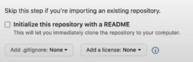 You can initialise the GitHub profile readme file when creating the repo.