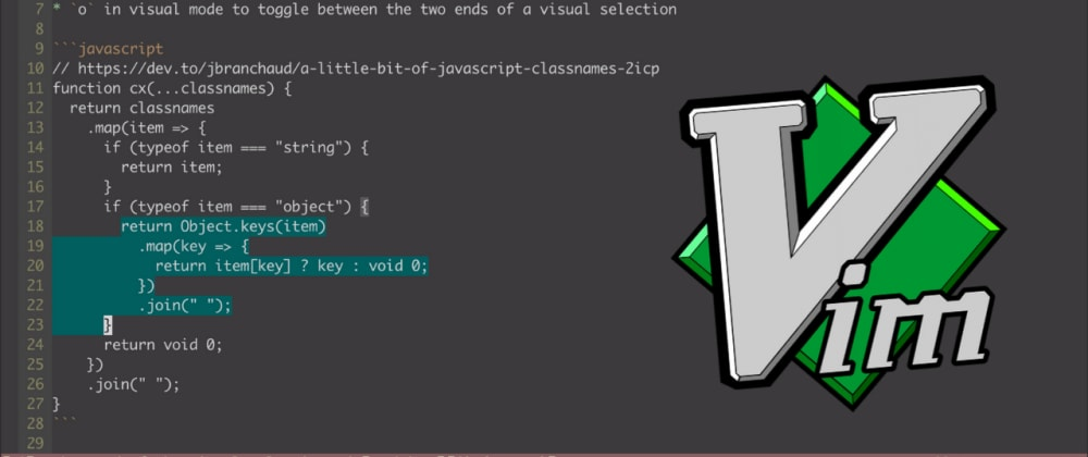 Cover image for Reapply the Previous Visual Selection in Vim