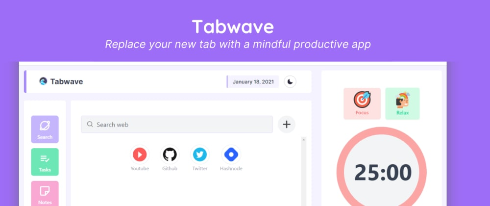 Cover image for Replace your new tab with a mindful productive app.