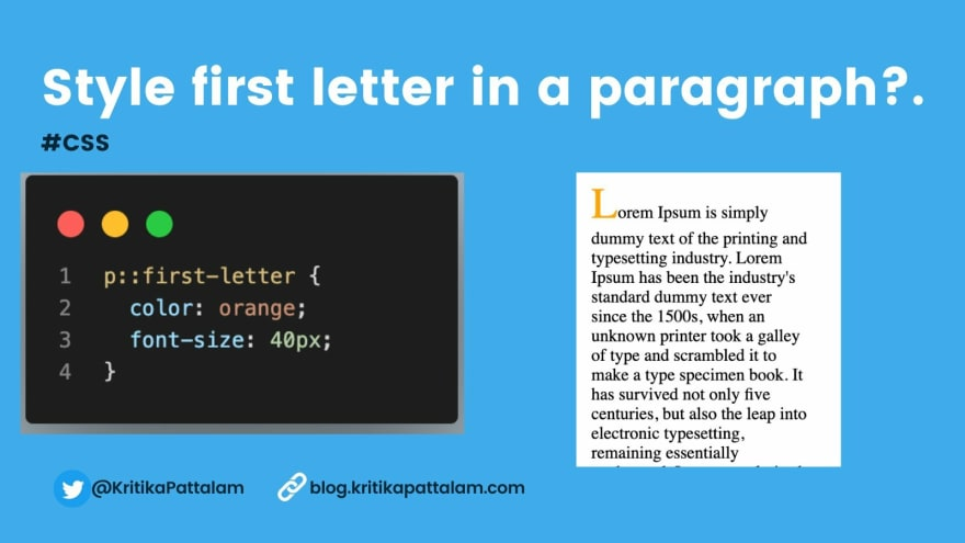 FIRST-LETTER