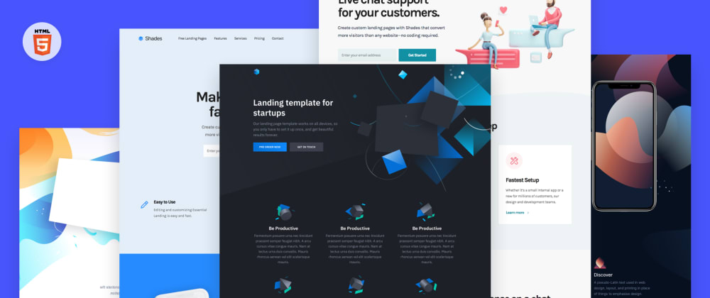 Cover image for 40 Free HTML landing page templates