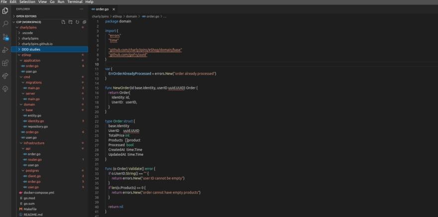 vscode default