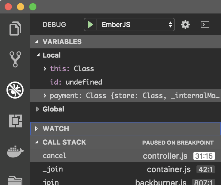 VScode debugging in action