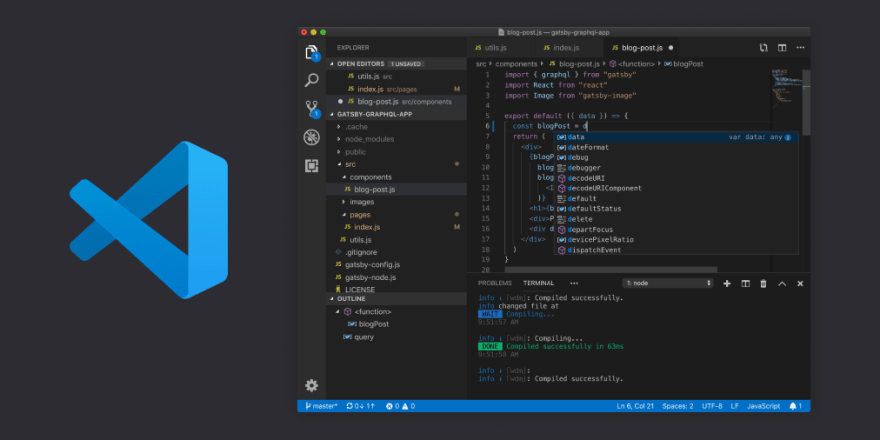 Picture of the Visual Studio Code Editor Interface