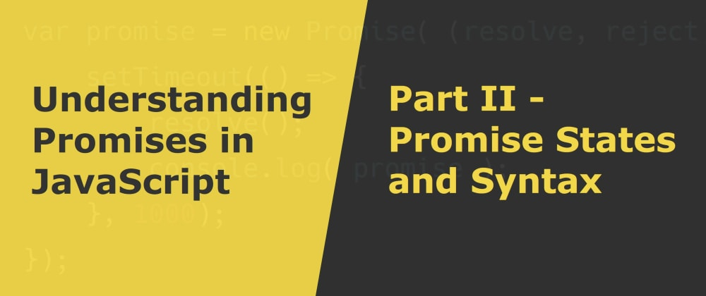 Cover image for Promise States and Syntax