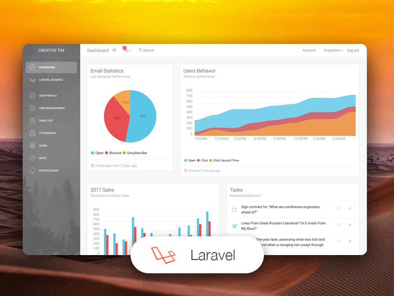Light Bootstrap Dashboard Laravel