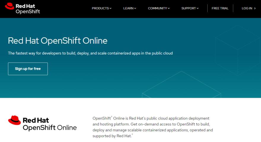 OpenShift online