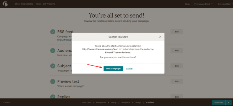 Start sending WordPres blog posts by email.