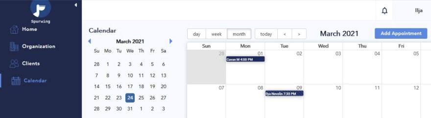 scheduling api dashboard