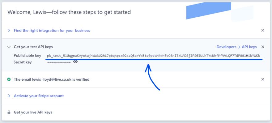 Getting a Stripe API Key
