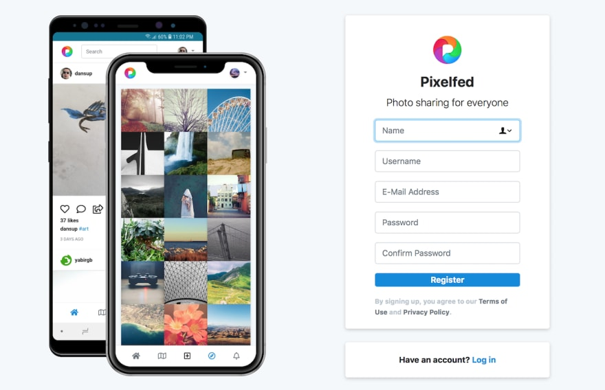 Pixelfed (beta) with Docker and Traefik