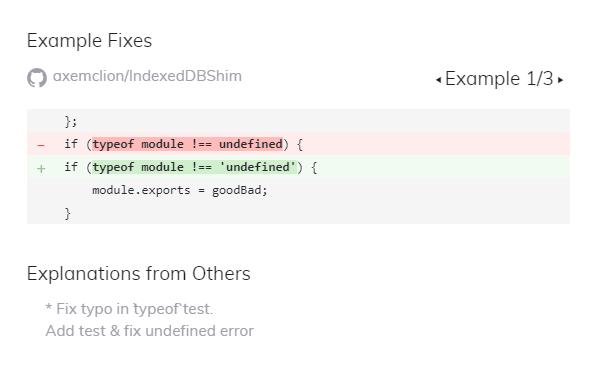 Example Fixes