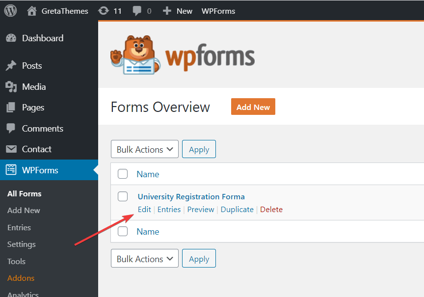 Style the contact form