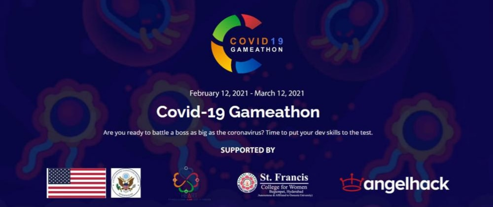 Cover image for COVID-19 Gameathon in India from Feb 12 - Mar 12, 2021