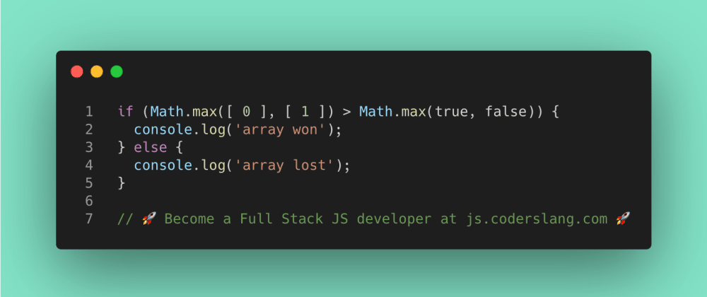 Cover image for JavaScript Interview Question #42: How Math.max works in JS