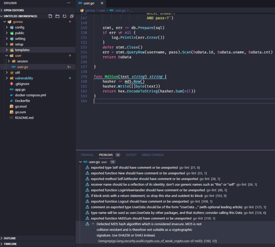 VS Code Semgrep