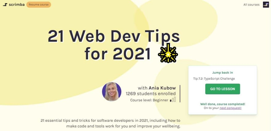 21 Web Dev Tips for 2021