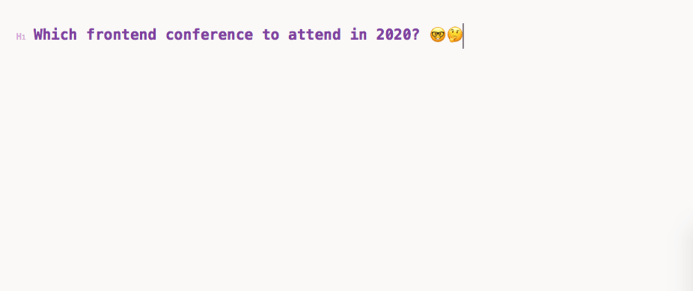 Cover image for JavaScript or Frontend centric conference to attend in 2020?