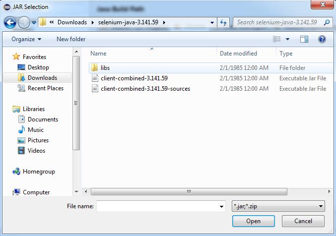 Selenium Java language