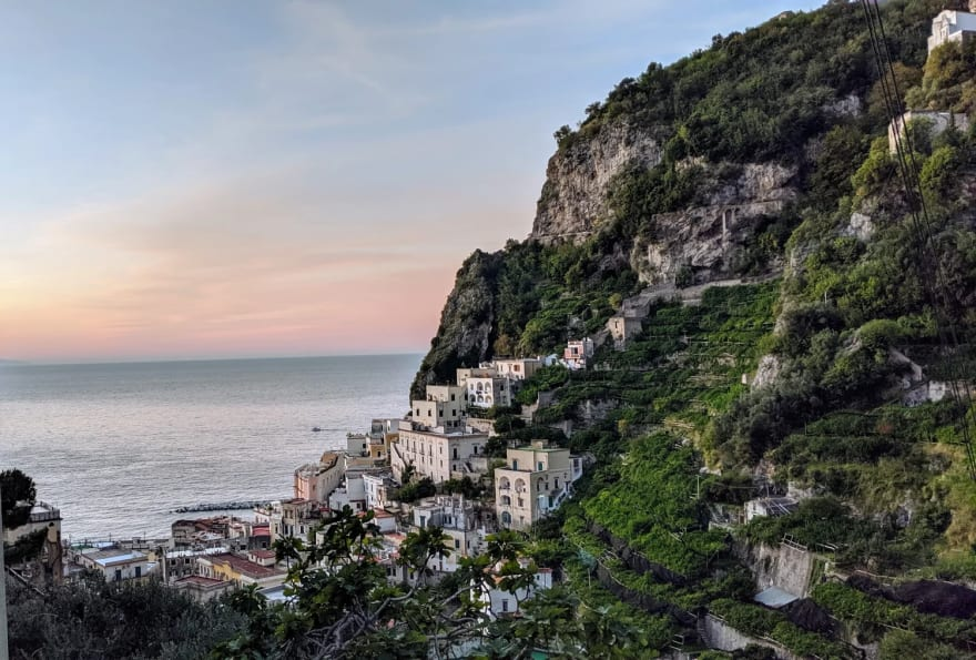 View of Atrani, while hiking to Ravello [photo by Hong Jing (Jingles)]