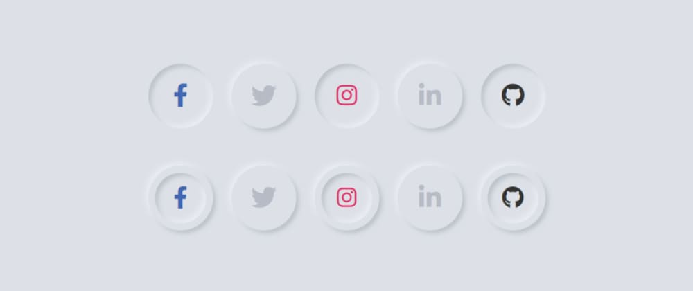 Cover image for CSS3 Neomorphic Social Media Buttons
