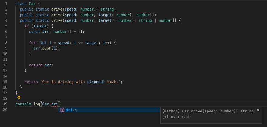 VS Code and overloads