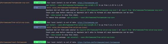 npm-check sample