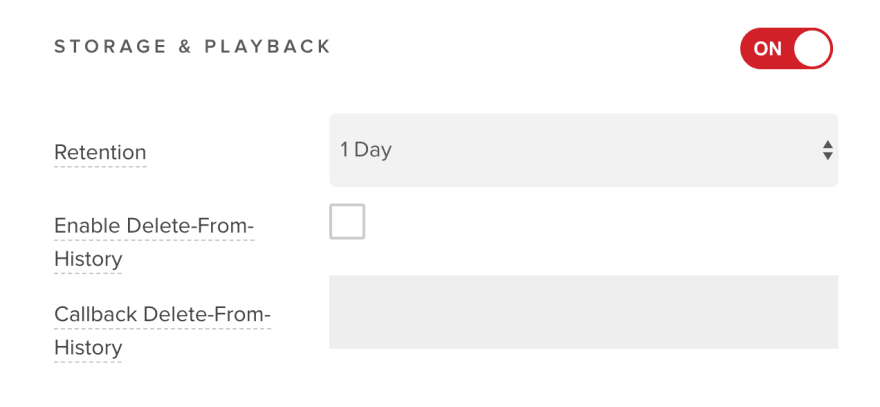 Storage and Playback Toggle Switch