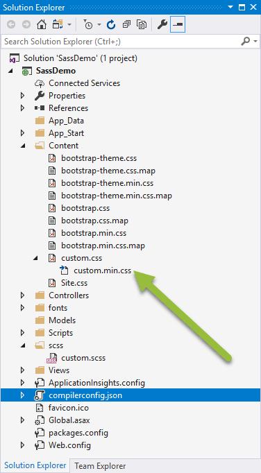Generated custom css file