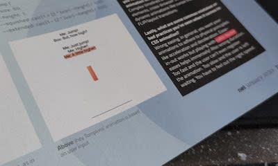Demo shown in net magazine - January 2020