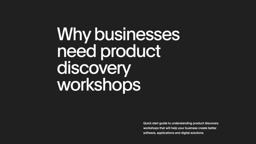 Discovery Workshop Ebook Front Page