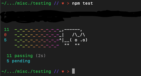 A Nyan Cat version of passing and pending tests