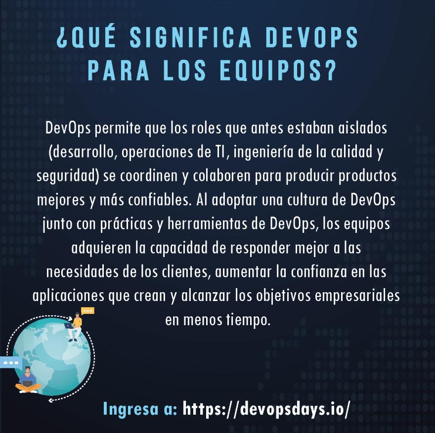 DEVOPS : Dev (desarrollo) Ops (Operaciones)