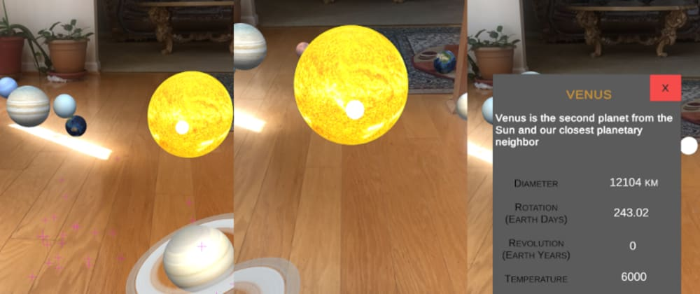 Cover image for How to Create the Solar System in AR in 15 Minutes or Less
