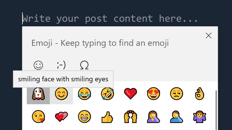 Emoji keyboard helper