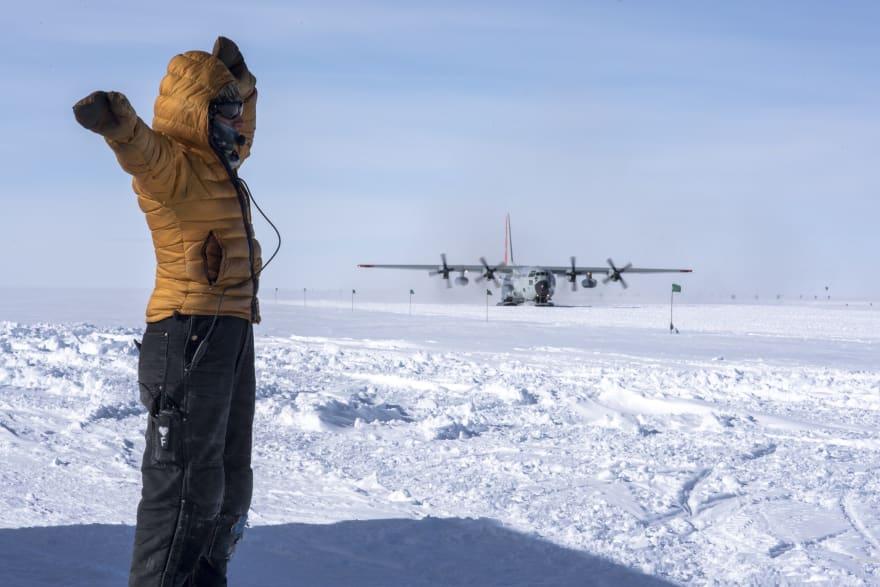 LC-130 Landing at WAIS
