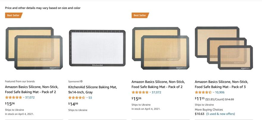 Amazon Web Scraping Sample
