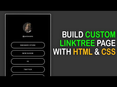 Linktree tutorial with HTML and CSS