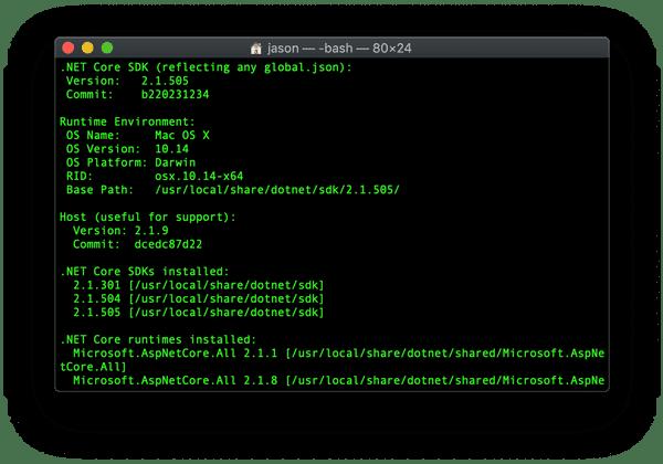 .NET Core version