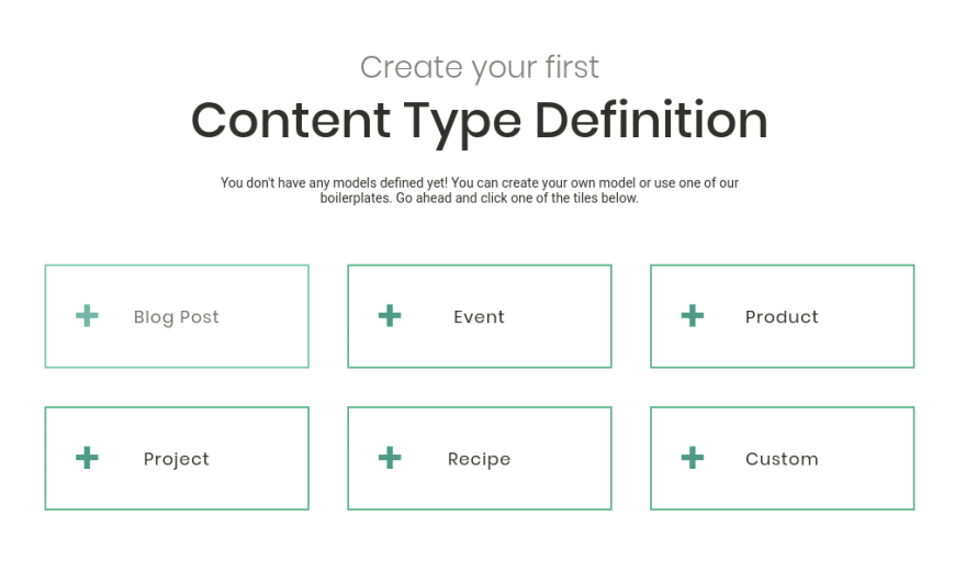 Predefined Content Type Definitions