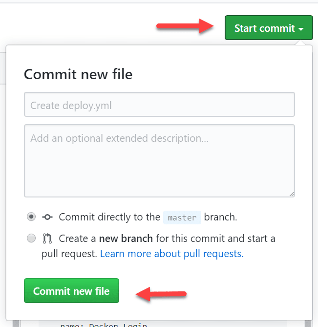 Commit the changes