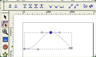 Inkscape edit node