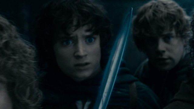 frodo's glowing sword