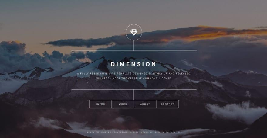 Next JS Theme - Dimension HTML5Up.