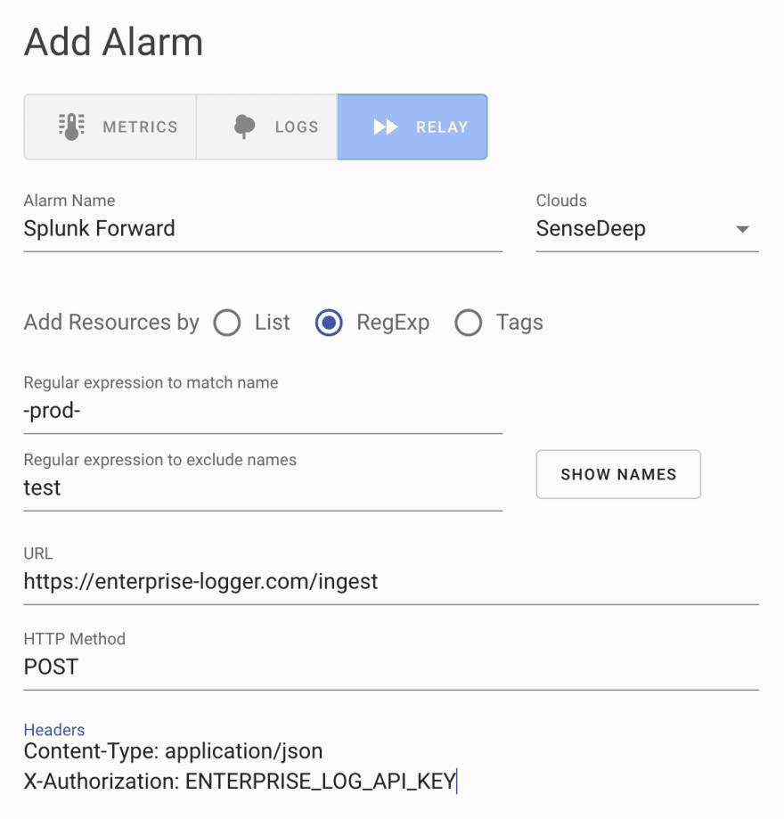 SenseDeep Relay Alarm