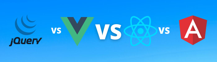 Image banner showcasing top web development frameworks battling eachother