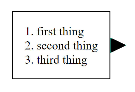 Rectangle with black arrow and partial green border