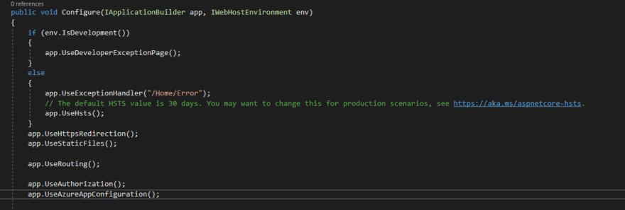 Refresh configuration middleware
