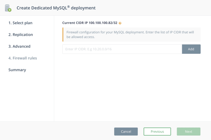 Create MySQL on DigitalOcean - Step 4
